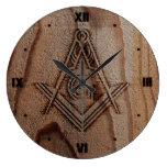 Faux Rustic Wood Masonic Clocks | Freemason Gifts