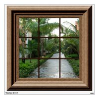 Faux Window Decal Tropical Landscape Wall Mural Wall ...