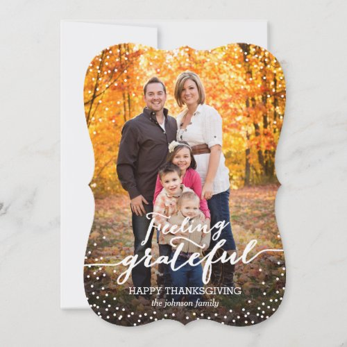 Feeling Grateful Thanksgiving Photo Card