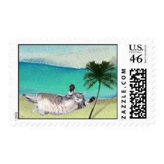Feline Postage stamp