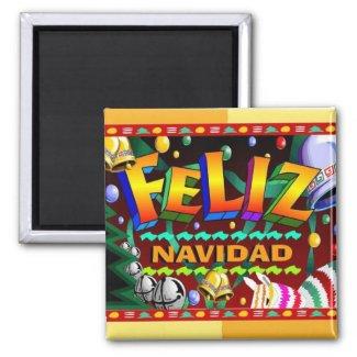 Feliz Navidad magnet magnet