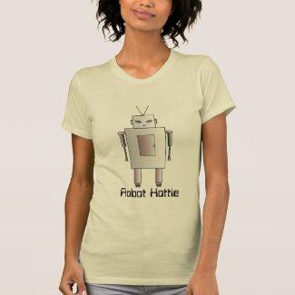 Female Robot Cute Hottie Retro Vintage Design Tshirts