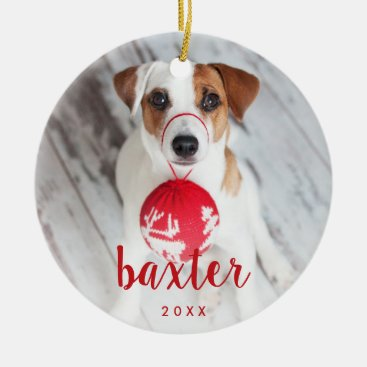 Festive Type | Pet Photo Ceramic Ornament