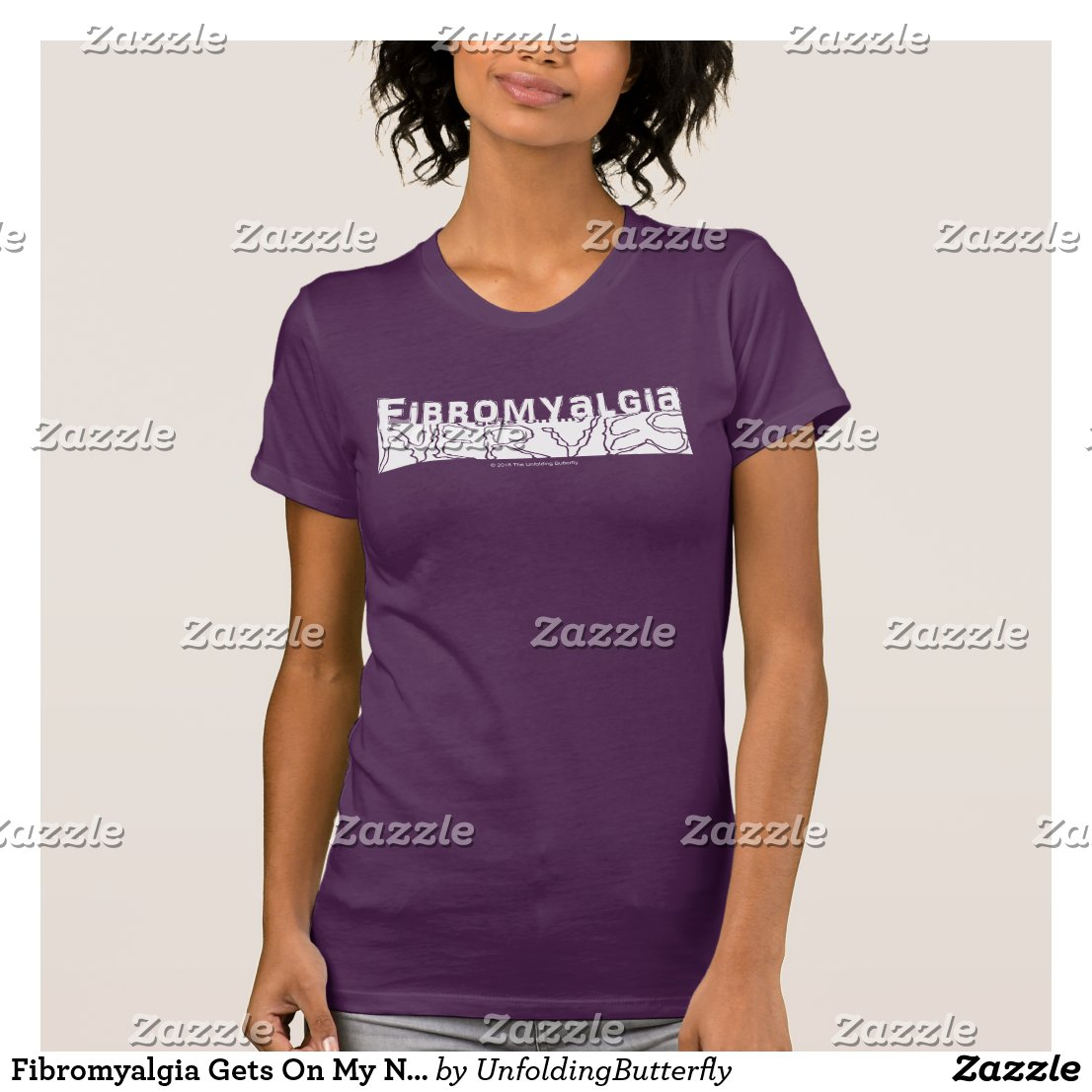 Fibromyalgia Gets On My Nerves White Graphic T-Shirt
