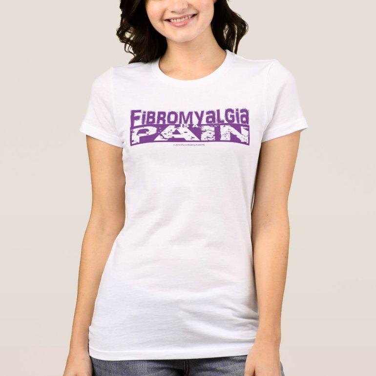 Fibromyalgia is a Pain Shirt Purple Graphic