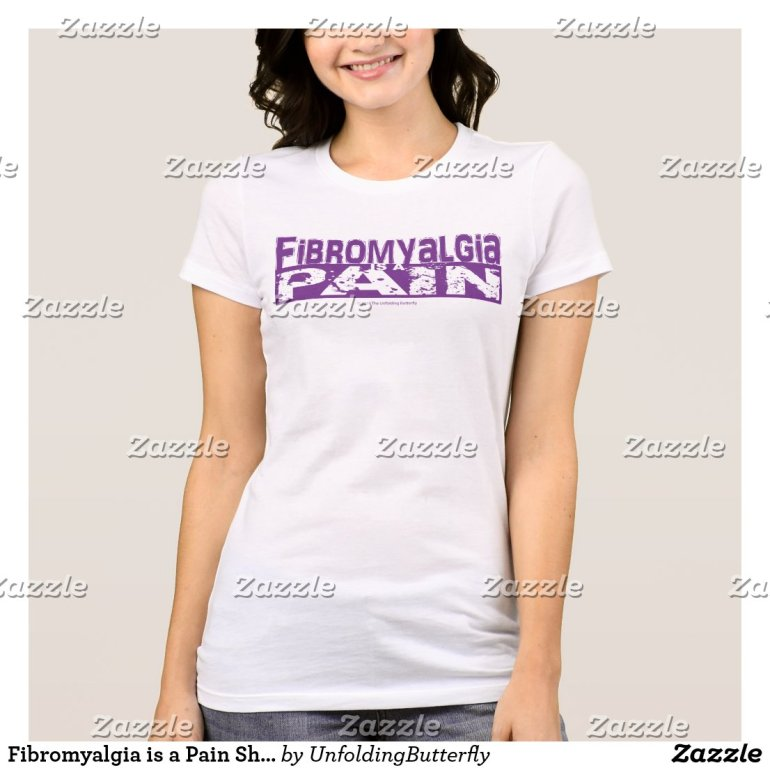 Fibromyalgia is a Pain Shirt Purple Graphic