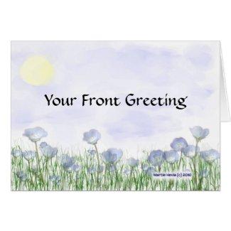 Field of Blue Flowers Card card