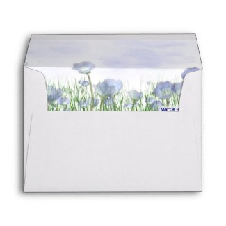 Field of Blue Flowers Envelope envelope
