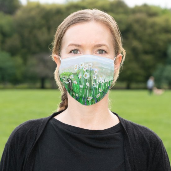 Field of Daisies Cloth Face Mask