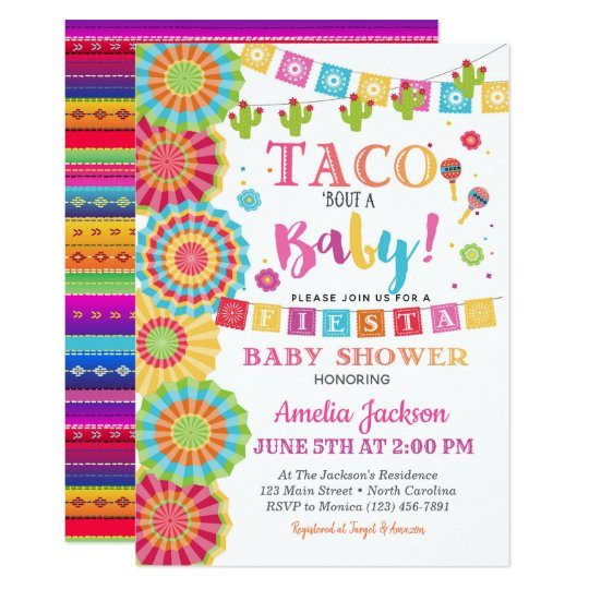 Fiesta Baby Shower Invitation Taco Bout A