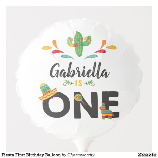 Fiesta First Birthday Balloon