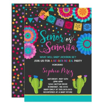 Fiesta Gender Reveal Invitation Señor Or Señorita