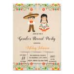 Fiesta gender reveal party invitation