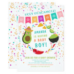 Fiesta Holy Guacamole Baby Shower Invitation