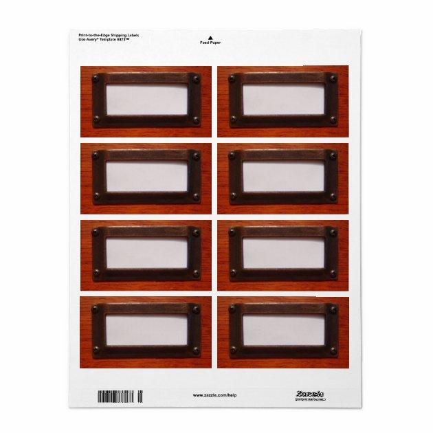 File Cabinet Label  Zazzle