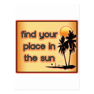 Find Your Place In The Sun Postcard