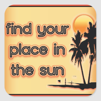 Find Your Place In The Sun Sticker