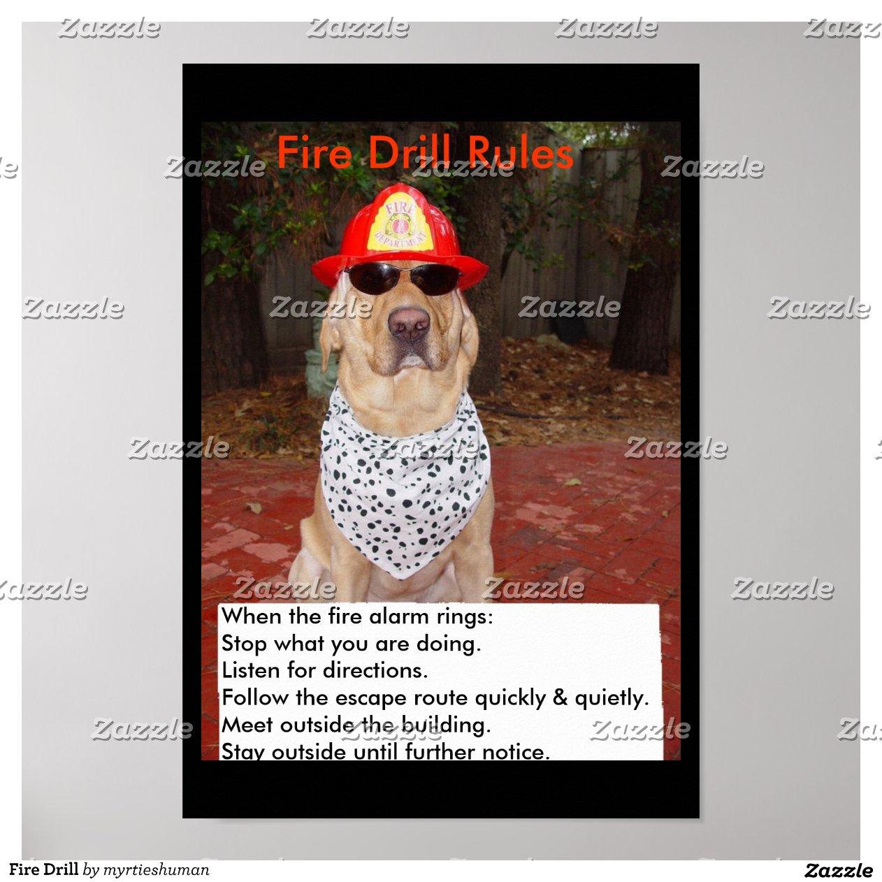 Fire Drill Poster-rc4cae00b35cd4a9f8110522962846830 2jm2
