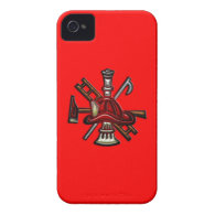 Firefighter Fire and Rescue Department Emblem iPhone 4 Case