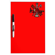 Firefighter Fire and Rescue Department Emblem Dry-Erase Board