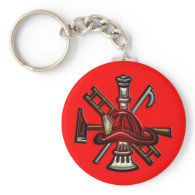 Firefighter Fire and Rescue Department Emblem Keychains