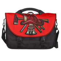 Firefighter Fire and Rescue Department Emblem Laptop Bag