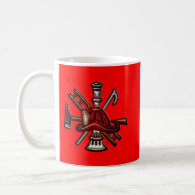 Firefighter Fire and Rescue Department Emblem Mugs