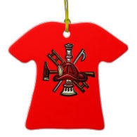 Firefighter Fire and Rescue Department Emblem Ornament