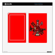 Firefighter Fire and Rescue Department Emblem Skin For Kindle Fire