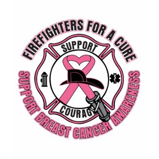 Firefighters For A Cure Breast Cancer shirt