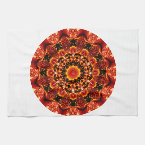 Firewalk Mandala, Abstract Spiritual Quest Towel