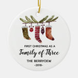 First Christmas as a Family of Three ornament