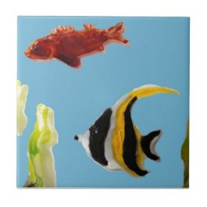 Fish Art swimming in the sea Tiles