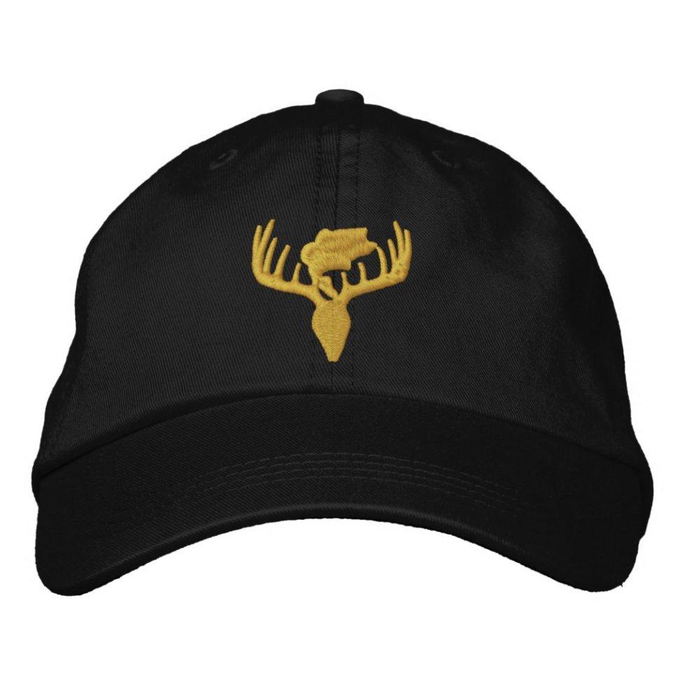 Fishing Hunting Design Logo Embroidered Baseball Cap