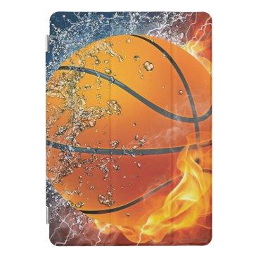 Flaming basketball throw pillow iPad pro cover