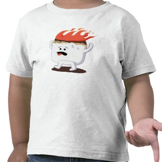 Flaming Marshmallow T Shirts