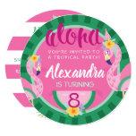 ❤️ Flamingo & Watermelon Tropical Birthday Invitation