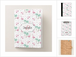 Flamingos and Palm Trees Office Supplies