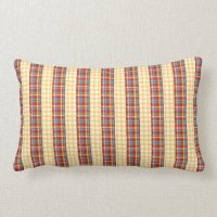 Flannel patterns on patterns throw pillow | Zazzle