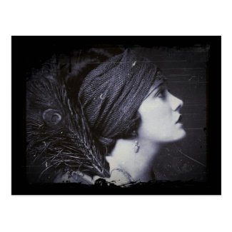 Flapper in a Feathered Turban