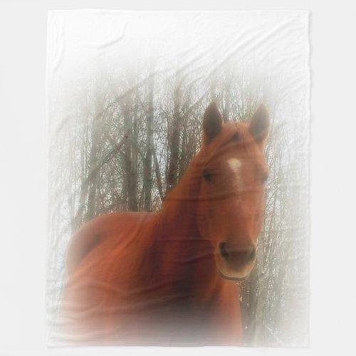 Fleece Blanket/Horse