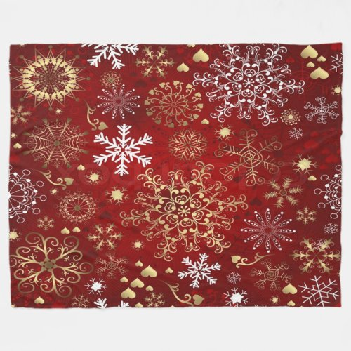 Fleece Blanket/Snowflakes