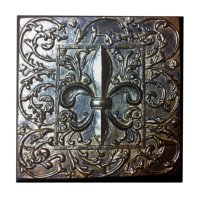 FLEUR DE LIS DESIGN CERAMIC TILE | Zazzle