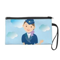 Flight Attendant Wristlet Purse