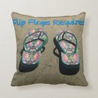 Flip Flop Pillow | Zazzle