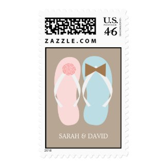 Flip Flops Summer Wedding Stamps