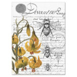 Floral Bee Collage Tissue Paper