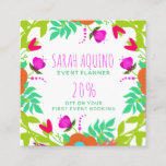 Floral Edged Blooms Garden Business Promotional Discount Card