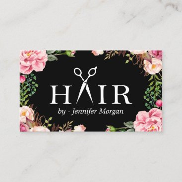 Floral Hair Stylist Logo Beauty Salon Appointment
