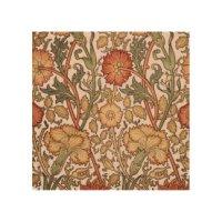 Vintage Fabric Wood Wall Art | Zazzle